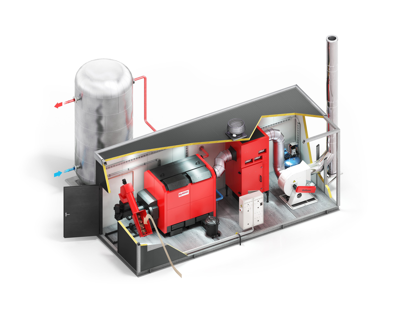 Bioflamm-Heizcontainer